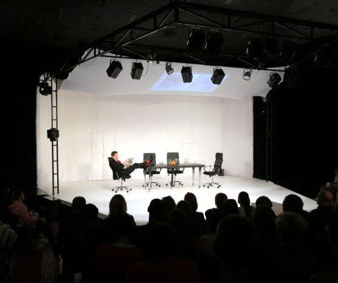 В Молодежном театре презентовали психологический триллер «Метод»  Источник: http://gp.by © Правда Гомель